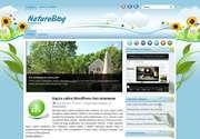 Сделайте дизайн своего сайта запоминающимся! Современная тема для Wordpress - «NatureBlog»